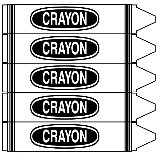 Box Crayons, : Box Crayons Coloring Pages