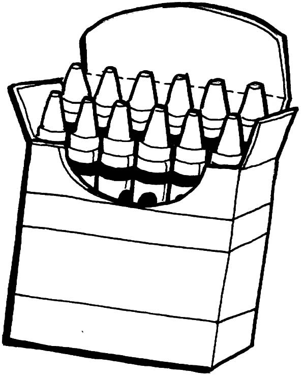 Box Crayons, : Box Crayons Coloring Pages for Kids