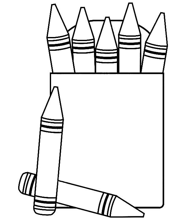 Box Crayons, : Box Crayons Colors Coloring Pages