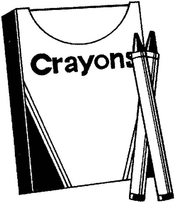 Crayon box page coloring pages for Crayon box coloring page