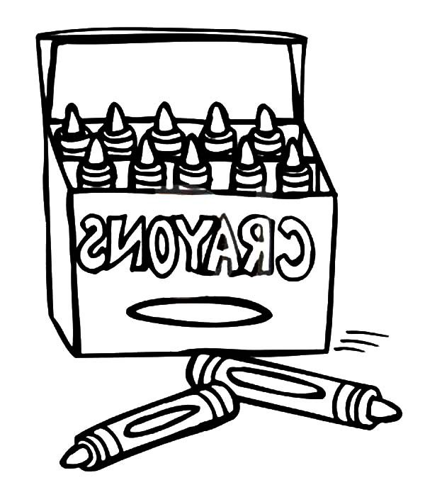 Box Crayons, : Box Crayons for Drawing Lesson Coloring Pages