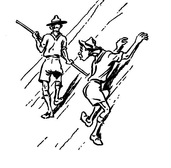 Boy Scouts, : Boy Scouts Adevnture Coloring Pages