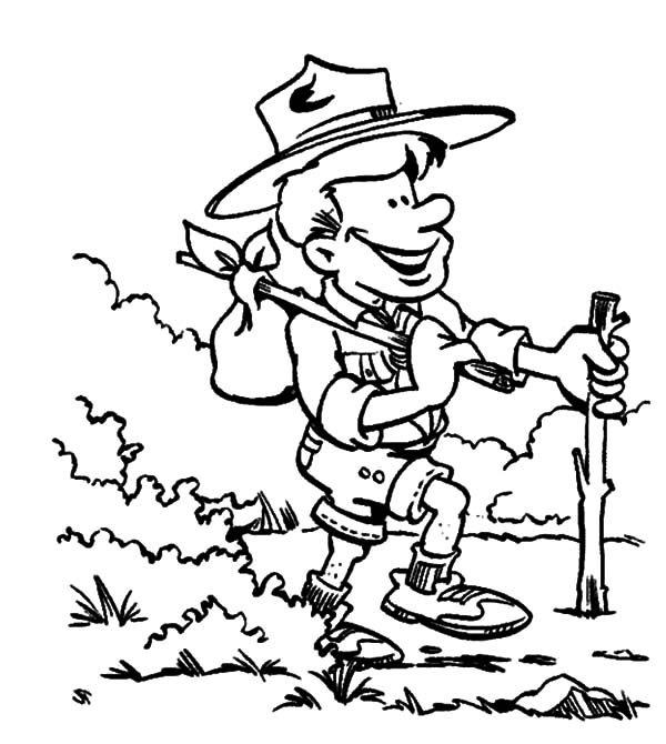 Boy Scouts, : Boy Scouts Adventure Coloring Pages