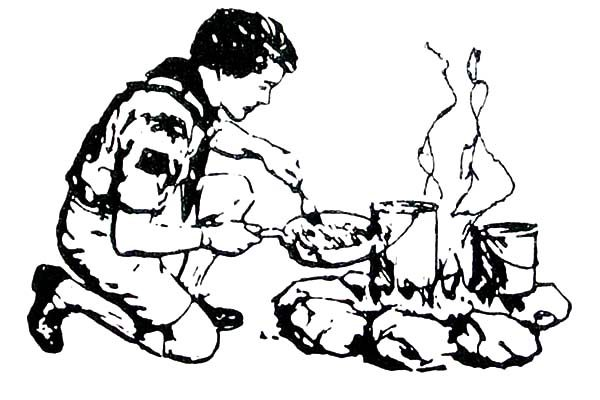 Boy Scouts Cooking Coloring Pages | Best Place to Color