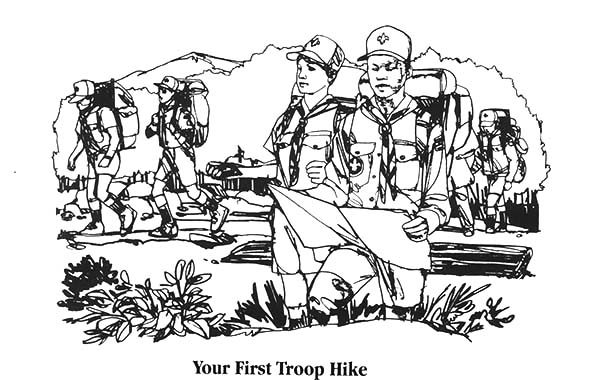 Boy Scouts, : Boy Scouts Exploring Coloring Pages