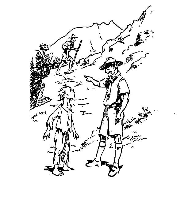 Boy Scouts, : Boy Scouts Follow Your Leader Coloring Pages