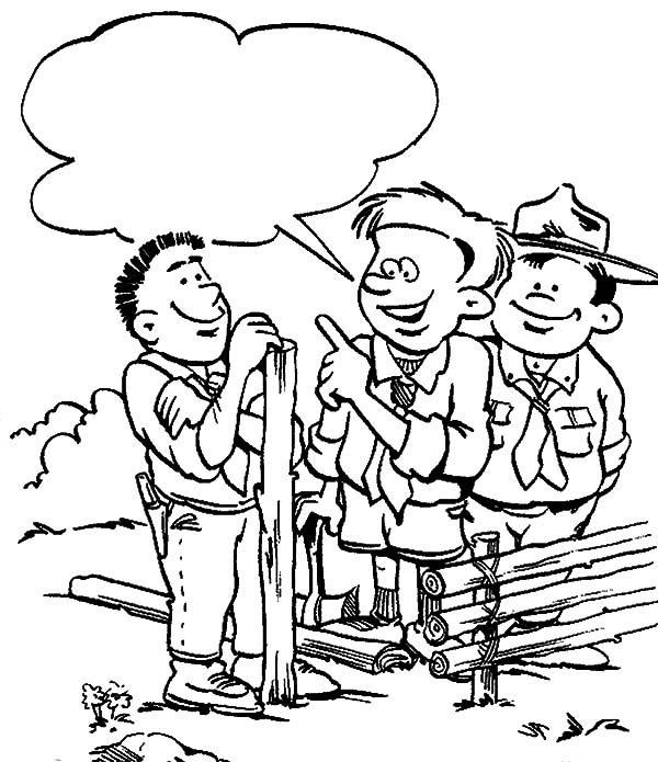 Boy Scouts, : Boy Scouts Lesson Coloring Pages
