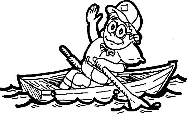 Boy Scouts, : Boy Scouts Put on Your Life Jacket Coloring Pages