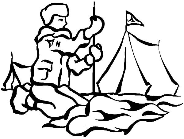 Boy Scouts, : Boy Scouts Set Up a Tent Coloring Pages