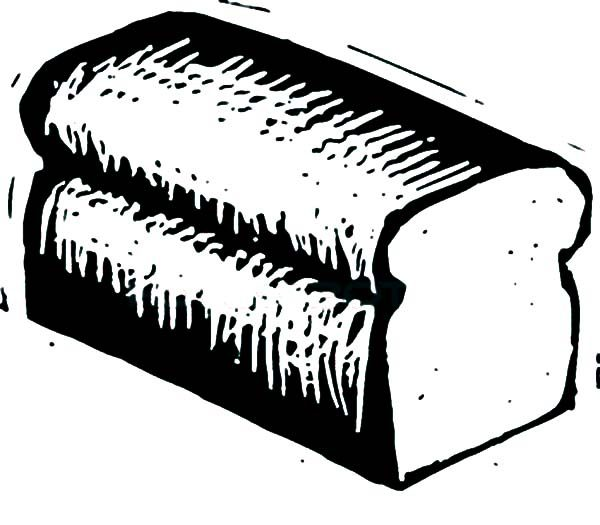 Bread, : Bread Coloring Pages