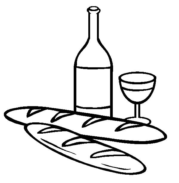 bread and wine coloring pages best place to color Wine Bottle Coloring Page  Bread And Wine Coloring Pages