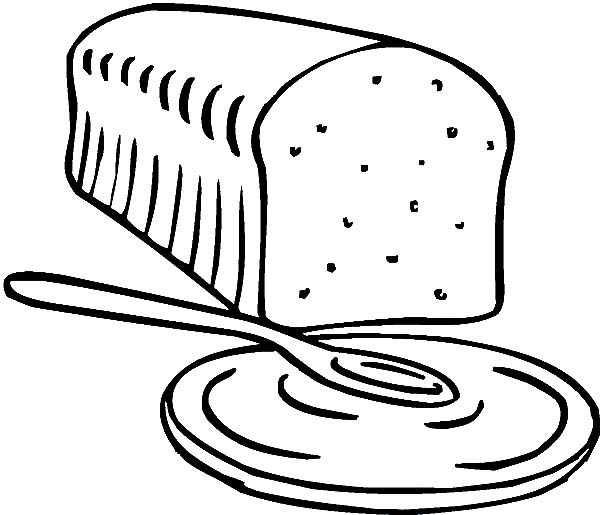 Bread, : Bread for Breakfast Coloring Pages