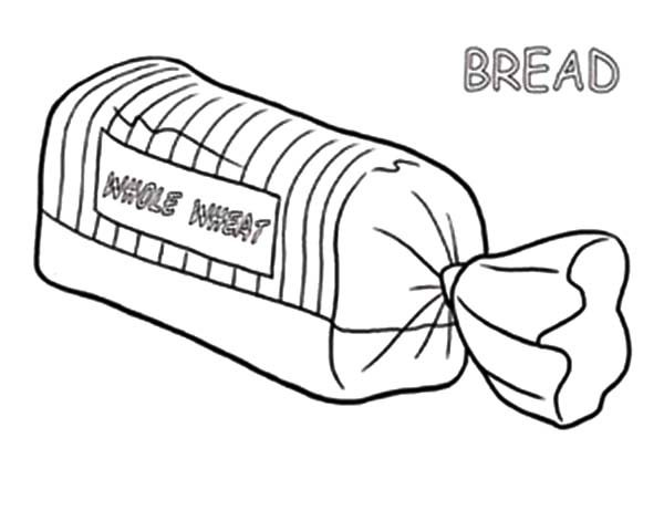 Bread, : Bread in Package Coloring Pages