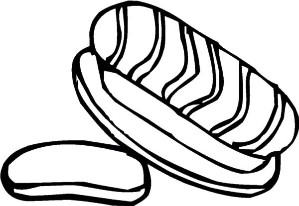 Bread, : Bread with Meat Coloring Pages