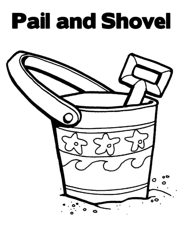 Beach Bucket, : Bring Your Beach Bucket Coloring Pages