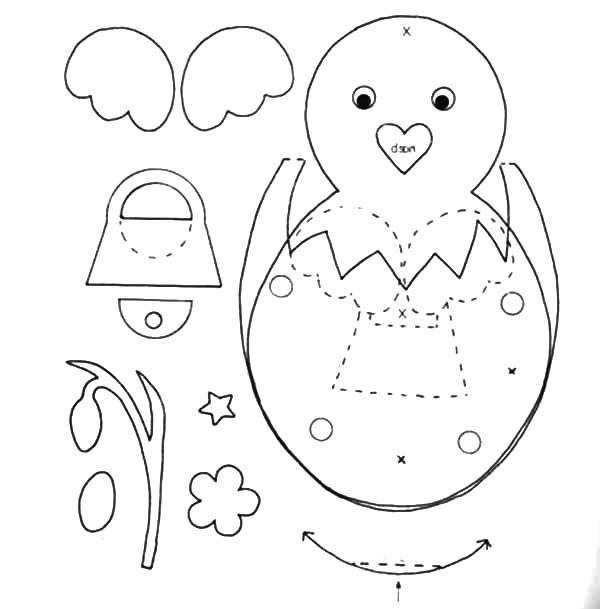 Cracked egg coloring pages