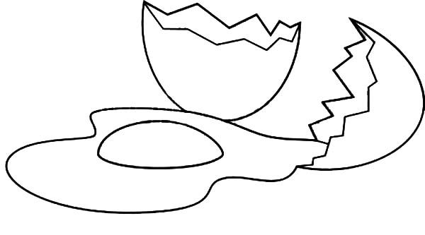 Broken Egg, : Broken Egg on the Floor Coloring Pages