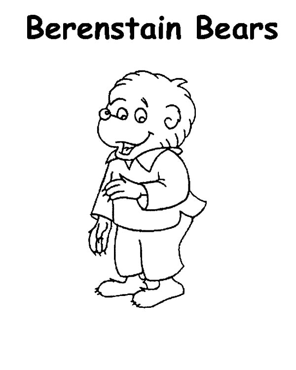 Brother bear free colouring pages for The berenstain bears coloring pages