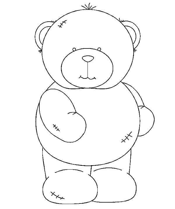 Brown Bear, : Brown Bear Doll Coloring Pages
