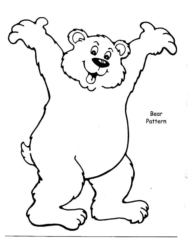 Brown Bear, : Brown Bear Look so Happy Coloring Pages