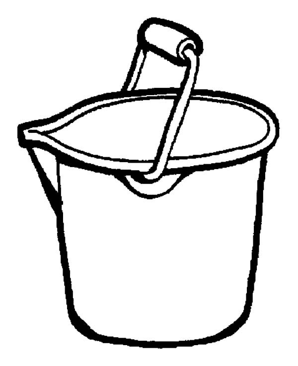 Bucket, : Bucket Coloring Pages