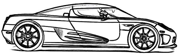 Bugatti Car, : Bugatti Car CCX Super Car Coloring Pages
