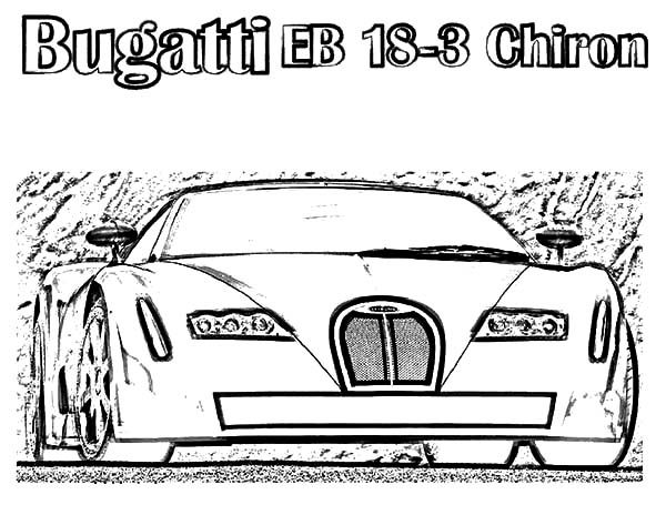 Bugatti Car, : Bugatti Car EBChiron Coloring Pages
