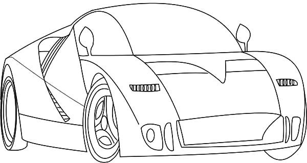 Bugatti Car, : Bugatti Car GT90 Coloring Pages