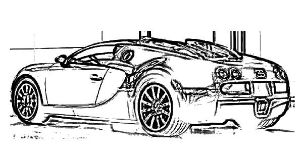 Bugatti Car, : Bugatti Car Veyron Electronic Coloring Pages