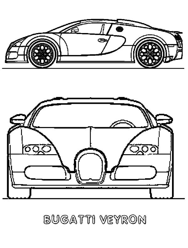 Bugatti Car, : Bugatti Car Veyron Model Coloring Pages
