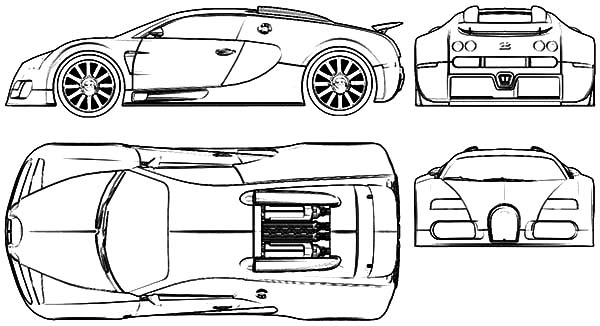 Bugatti Veyron Easy Coloring Pages