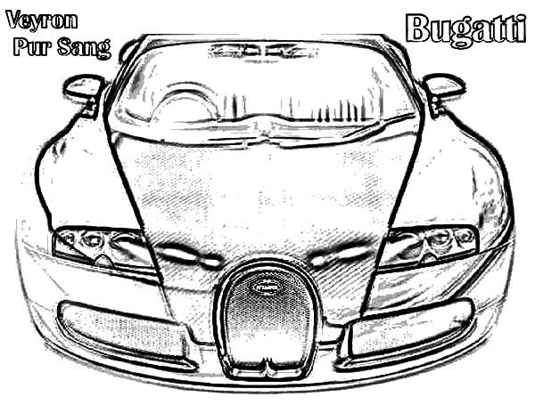 Bugatti Car, : Bugatti Car Veyron Pur Sang Coloring Pages