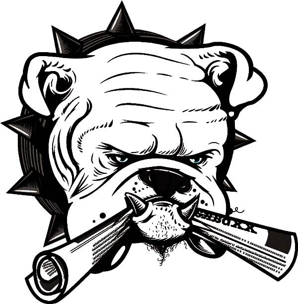 Bulldog, : Bulldog Bite Newspaper Coloring Pages