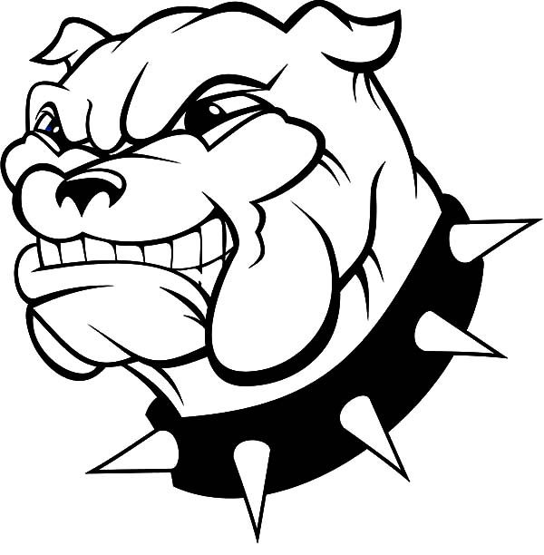 Bulldog, : Bulldog Threatening Enemy Coloring Pages
