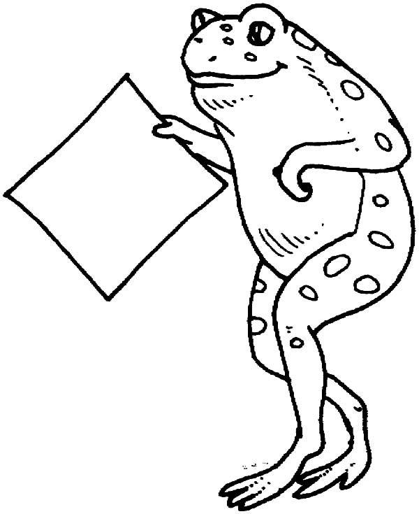 Bullfrog, : Bullfrog Delivering Letter Coloring Pages