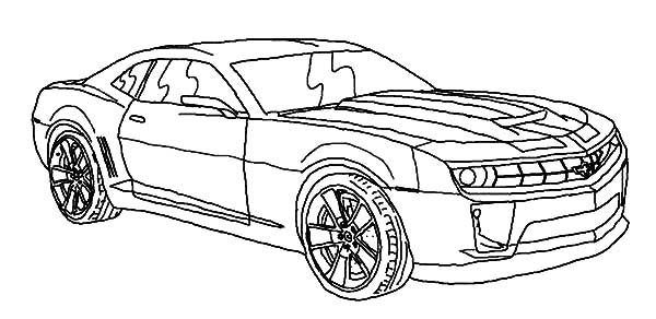 Bumblebee Car, : Bumblebee Car Before Transforming to Robot Coloring Pages
