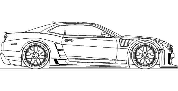 Bumblebee Car, : Bumblebee Car Chevy Camaro Coloring Pages