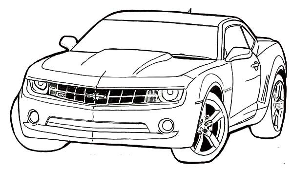 Bumblebee Car, : Bumblebee Car Coloring Pages