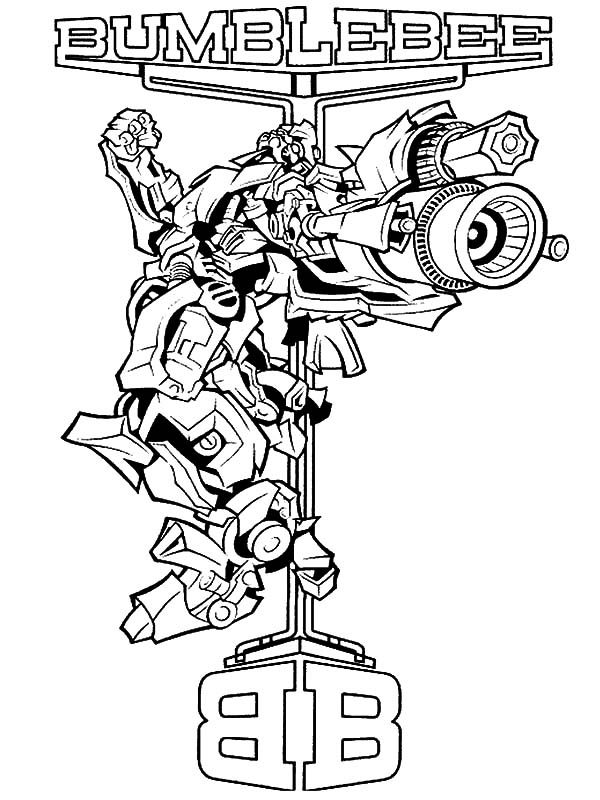 Bumblebee Car, : Bumblebee Car Transformer Amazing Bazooka Coloring Pages