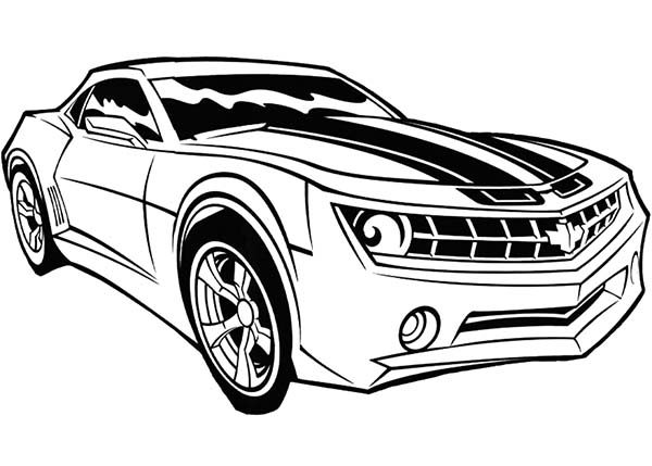 Bumblebee Car, : Bumblebee Car Transformer Coloring Pages