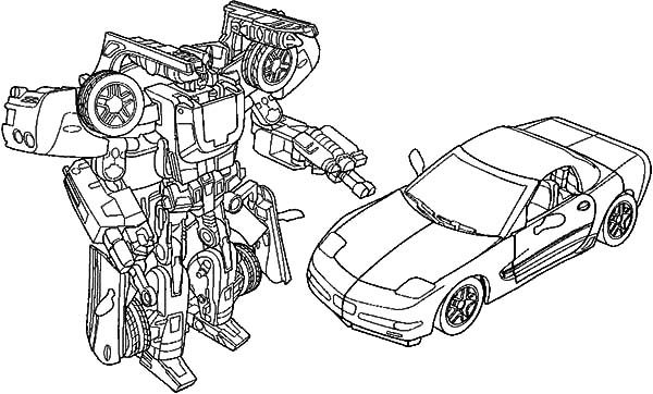Bumblebee Car, : Bumblebee Car for Boys Coloring Pages