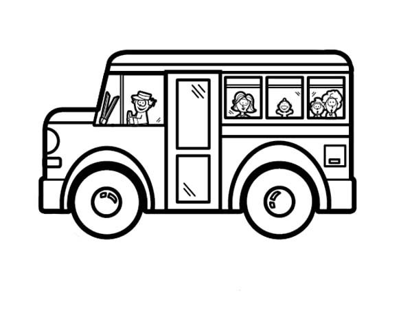 Bus Driver, : Bus Driver Coloring Pages for Kids