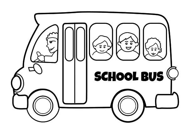 Bus Driver, : Bus Driver Drive School Bus Safely Coloring Pages