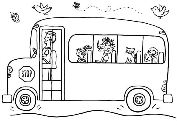 double decker bus coloring pages - photo#33