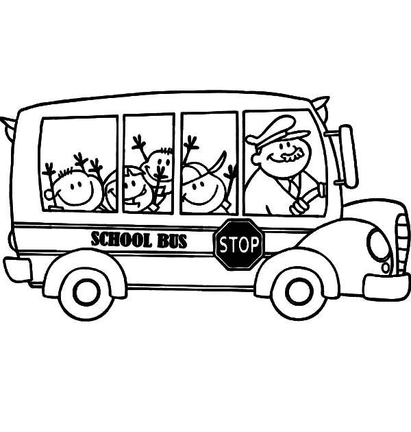 Bus Driver, : Bus Driver Wearing Hat Coloring Pages