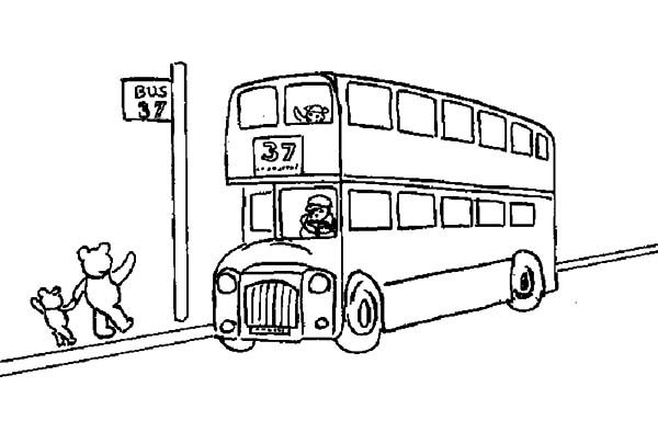 Bus Stop, : Bus Stop Coloring Pages