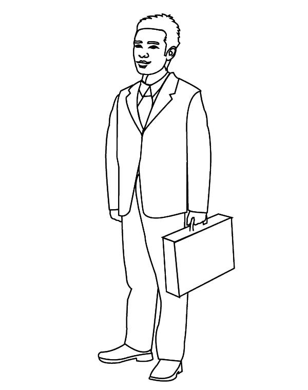 Business man coloring pages best place to color for Coloring pages man