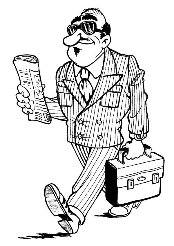 Business, : Business Owner Coloring Pages