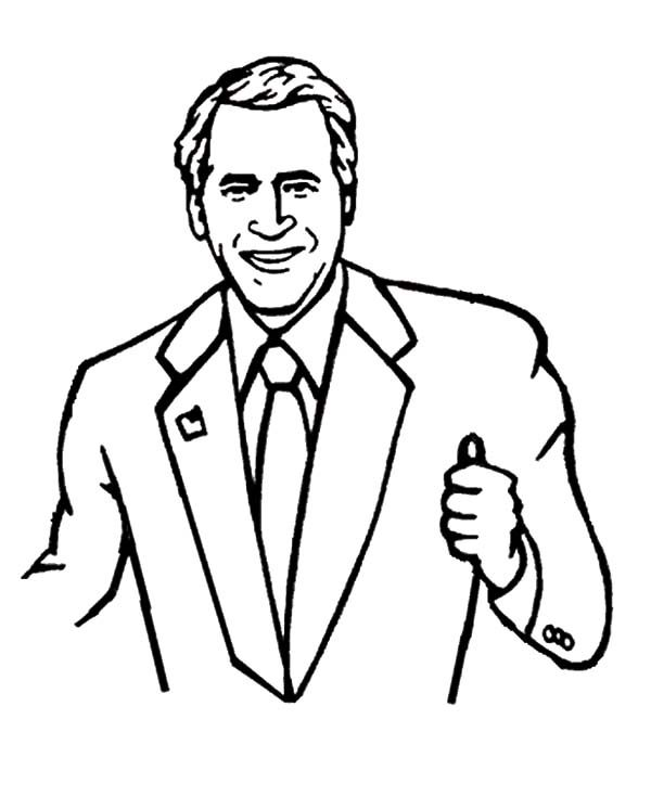Business, : Business with George W Bush Coloring Pages