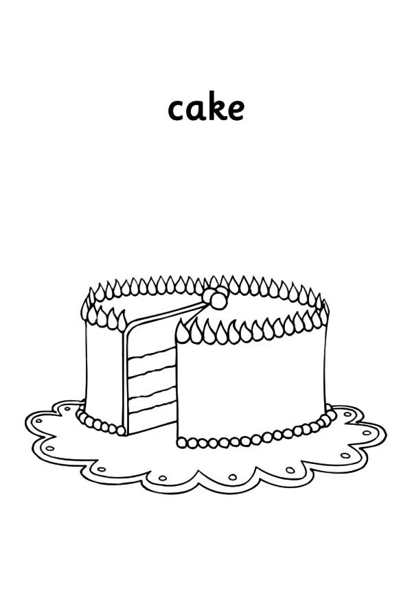 Cakes, : Cake for Christmas Coloring Pages